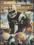 BGSU Football Program: October 20, 1979