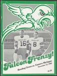 BGSU Football Program: November 13, 1982