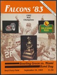 BGSU Football Program: September 24, 1983