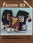 BGSU Football Program: October 08, 1983