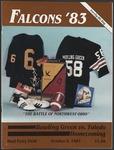 BGSU Football Program: October 08, 1983
