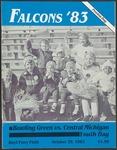 BGSU Football Program October 29, 1983