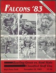 BGSU Football Program November 19, 1983