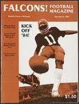 BGSU Football Program: September 08, 1984