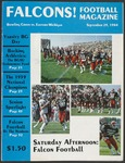 BGSU Football Program: September 29, 1984