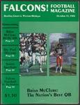 BGSU Football Program October 13, 1984