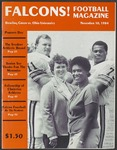 BGSU Football Program: November 10, 1984