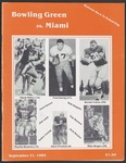 BGSU Football Program September 21, 1985