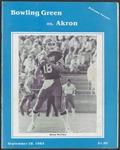 BGSU Football Program September 28, 1985