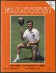 BGSU Football Program September 06, 1986
