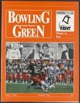 BGSU Football Program: November 07, 1987
