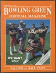 BGSU Football Program: September 10, 1988