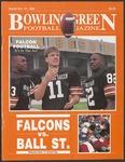 BGSU Football Program September 16, 1989