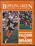 BGSU Football Program: October 27, 1990