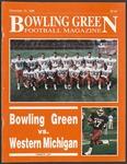 BGSU Football Program November 10, 1990