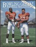 BGSU Football Program September 21, 1991