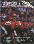 BGSU Football Program: October 05, 1991