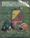 BGSU Football Program October 19, 1991