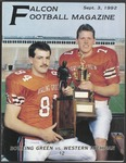 BGSU Football Program September 03, 1992