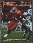 BGSU Football Program: October 31, 1992