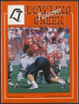 BGSU Football Program October 29, 1994