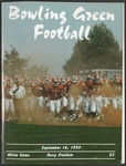 BGSU Football Program September 16, 1995
