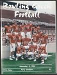 BGSU Football Program: November 04, 1995