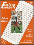 BGSU Football Program October 25, 1997