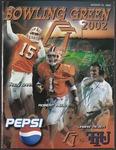 BGSU Football Program August 31, 2002