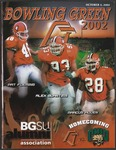 BGSU Football Program: October 05, 2002 by Bowling Green State University. Department of Athletics
