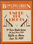 BGSU Football Program: September 30, 1989