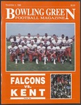BGSU Football Program November 04, 1989