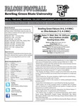 BGSU Football Program: November 16, 2011 by Bowling Green State University. Department of Athletics