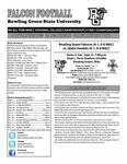 BGSU Football Program September 08, 2012