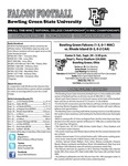 BGSU Football Program: September 29, 2012