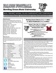 BGSU Football Program October 13, 2012 by Bowling Green State University. Department of Athletics