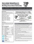 BGSU Football Program: October 27, 2012