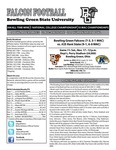 BGSU Football Program: November 17, 2012 by Bowling Green State University. Department of Athletics
