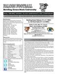 BGSU Football Program: November 17, 2012
