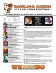 BGSU Football Program: August 29, 2013 by Bowling Green State University. Department of Athletics