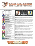BGSU Football Program September 21, 2013 by Bowling Green State University. Department of Athletics