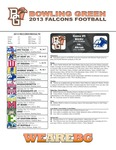 BGSU Football Program September 28, 2013 by Bowling Green State University. Department of Athletics