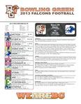 BGSU Football Program September 28, 2013