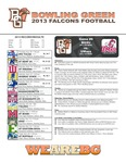 BGSU Football Program: October 05, 2013 by Bowling Green State University. Department of Athletics
