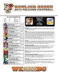 BGSU Football Program: October 26, 2013