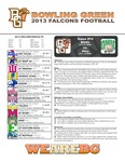 BGSU Football Program November 12, 2013 by Bowling Green State University. Department of Athletics