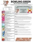 BGSU Football Program September 06, 2014