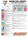 BGSU Football Program September 13, 2014 by Bowling Green State University. Department of Athletics
