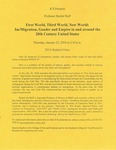 First World, Third World, New World: Im/Migration, Gender and Empire in and Around the 20th Century United States