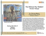 The African Boy-Soldier: Gender Damage by Bowling Green State University. Institute for the Study of Culture & Society